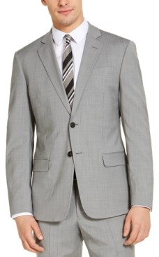 Ax Armani Exchange Armani Exchange Men's Modern-Fit Light Grey Suit Jacket, Created for Macy's