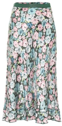 Marc Jacobs The '40s floral silk jacquard midi skirt