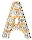 Nephora 14K 0.04 Ct. Tw. Diamond Single Initial Earring