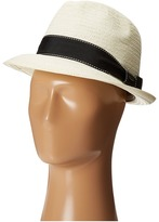 Scala 5 BU Toyo Fedora with Striped Ribbon Band