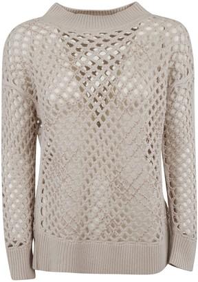 Fabiana Filippi Ribbed Knit See-through Pullover