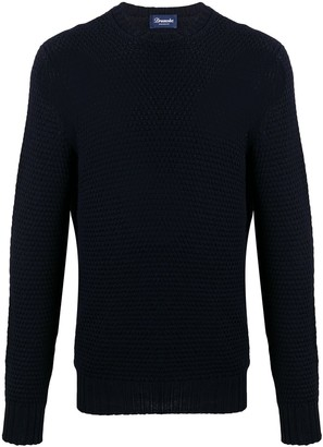 Drumohr Long Sleeve Woven Knit Sweater