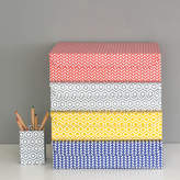 STUDY Heart & Parcel Recycled Geometric A4 Storage Box File