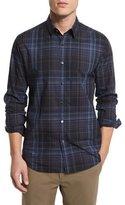 Theory Zack PS Multi-Plaid Sport Shirt, Inkwell Multi