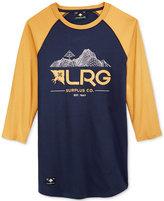 Lrg Men's Raglan-Sleeve Graphic-Print T-Shirt