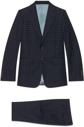 Gucci Bee check wool suit