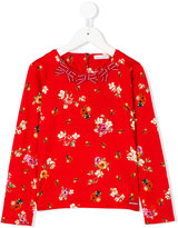 Dolce & Gabbana floral print long sleeve top