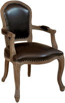 Asstd National Brand Walter Bonded Leather Armchair with Nailhead Trim