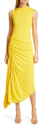 Sies Marjan Fontana Ruched Matte Jersey Midi Dress