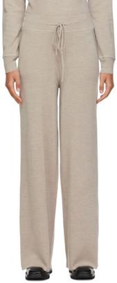 Max Mara Beige Wool Kenya Lounge Pants