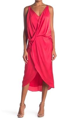Do & Be Strappy Surplice Neck Midi Dress