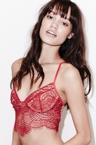 For Love & Lemons SKIVVIES by Bat Your Lashes Underwire Bra in Red