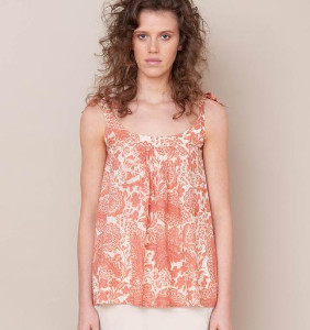 Beaumont Organic Sita Organic Cotton Top In Pink Print - Pink Print / Extra Small