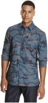 Joe Fresh Men's Camo Print Shirt, Navy (Size L)