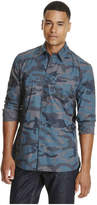 Joe Fresh Men's Camo Print Shirt, Navy (Size M)