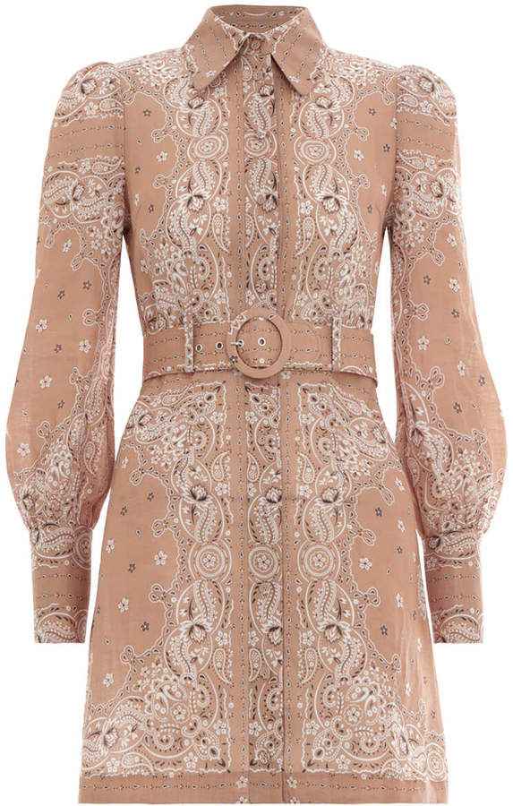 Zimmermann Honour Bandana Short Dress