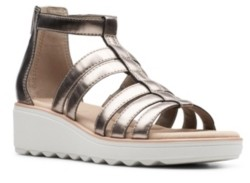 Clarks Collection Women's Jillian Nina Wedge Sandals Women's Shoes