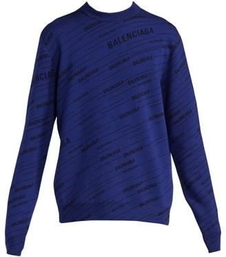 Balenciaga Logo Print Crew Sweater