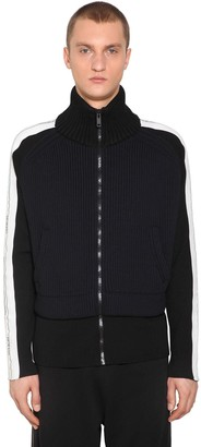 Givenchy Zip Up Nylon Blend Knit Jacket