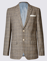 M&S Collection Checked Regular Fit Jacket