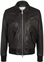Ami Black Leather Jacket