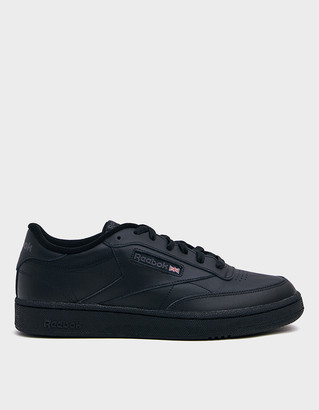 Reebok Men's Club C 85 Sneaker in Black/Charcoal | Leather/Rubber