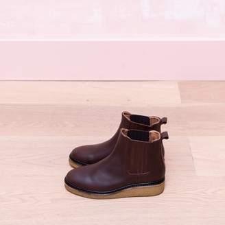 220v 220V - Flat Leather Boots - 36 | brown - Brown/Brown