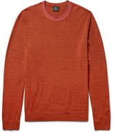 Paul Smith Contrast-Tipped Mélange Merino Wool-Blend Sweater