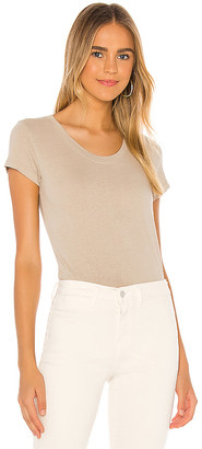 L'Agence Cory Scoop Neck Top