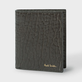 Paul Smith Men's Grey Heavy Grained Leather Slim Billfold Wallet