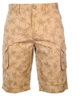 Pierre Cardin Mens AOP Cargo Shorts Zip Fly Pockets Pants Summer Casual Bottoms