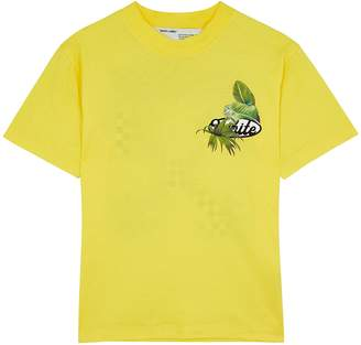 Off-White Off White Racing Yellow Cotton T-shirt