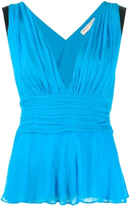 Emilio Pucci plunging V-neck sleeveless top
