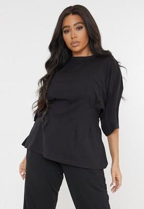 Missguided Plus Size Black Corset T Shirt