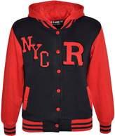 a2z4kids Kids Girls Boys R Fashion NYC Baseball Hooded Jacket Varsity Hoodie 5-13 Years