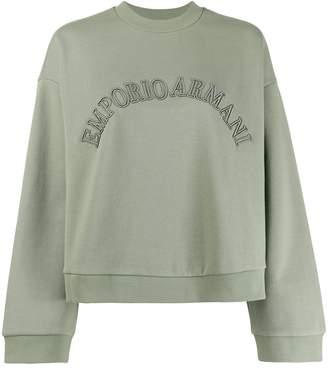 Emporio Armani logo embroidered sweatshirt