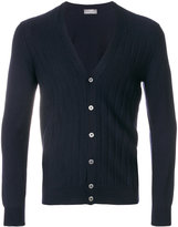 Barba ribbed V-neck cardigan
