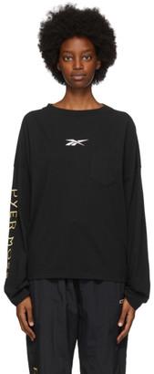 Reebok by Pyer Moss Black Pocket Long Sleeve T-Shirt