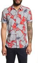 Ted Baker Sohot Trim Fit Floral Sport Shirt