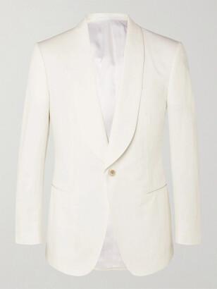 Kingsman Slim-Fit Cotton And Linen-Blend Blazer