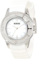 Versus By Versace Women's 3C64100000 Tokyo White Rubber Silver Dial Crystal Watch
