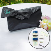 Cathy's Concepts CATHYS CONCEPTS Black Bridesmaid Clutch with Survival Kit