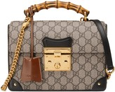 Gucci Padlock GG Supreme Canvas Bamboo Handle Shoulder Bag