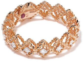 Roberto Coin 18kt rose gold Roman Barocco diamond and ruby ring