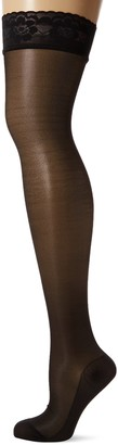 Belly Cloud Women's Damen Halterlose Strumpfe Anti-allergenen Silikon Basic 70 den Hold-up Stockings