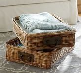 Pottery Barn Caden Rectangular Ottoman Basket