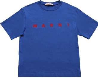 Marni Junior Logo Print Cotton Jersey T-shirt