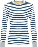 John Lewis Breton Stripe Long Sleeve Pyjama Top, White/blue