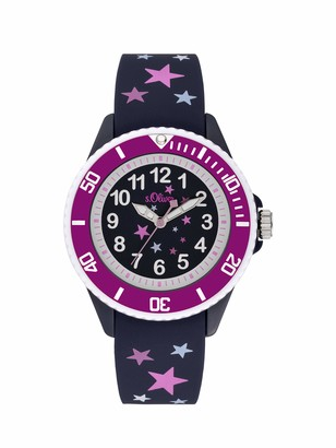 S'Oliver Girls Analogue Quartz Watch with Silicone Strap SO-3926-PQ