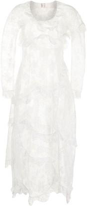 yuhan wang Long-Sleeve Floral-Lace Dress